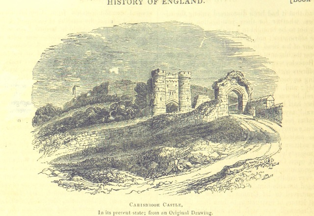 """Carisbrook Castle from """"The Pictorial History of England (to the death of George III) ... By G. L. Craik and Charles MacFarlane, assisted by other contributors. [Edited by G. L. Craik.] (Standard edition.)"""""""