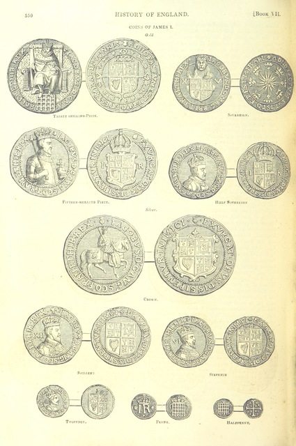 """currency from """"The Pictorial History of England (to the death of George III) ... By G. L. Craik and Charles MacFarlane, assisted by other contributors. [Edited by G. L. Craik.] (Standard edition.)"""""""