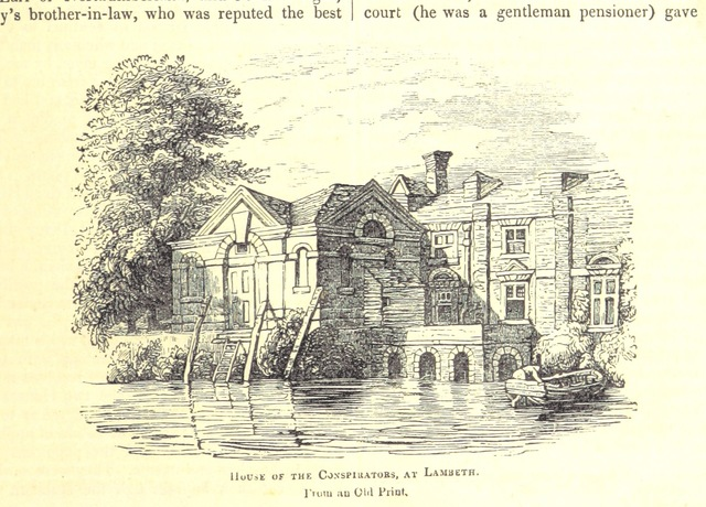 """Lambeth from """"The Pictorial History of England (to the death of George III) ... By G. L. Craik and Charles MacFarlane, assisted by other contributors. [Edited by G. L. Craik.] (Standard edition.)"""""""