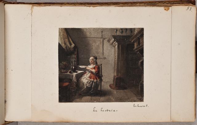 Lezende vrouw / door H[endricus Johannes] Scheeres (1829-1864)