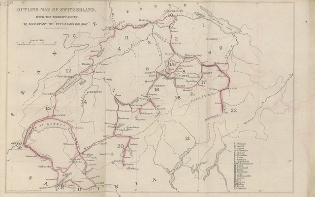 "map from ""A Physician's Holiday; or, a month in Switzerland in the summer of 1848"""