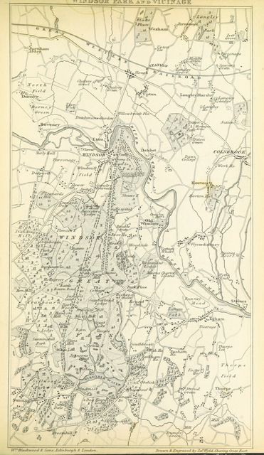 """map from """"A Picturesque Tour of the River Thames in its Western Course; including particular descriptions of Richmond, Windsor, and Hampton Court ... Illustrated, etc"""""""