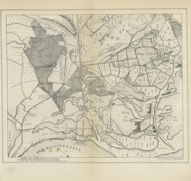 """map from """"Histoire d'Aiguesmortes"""""""