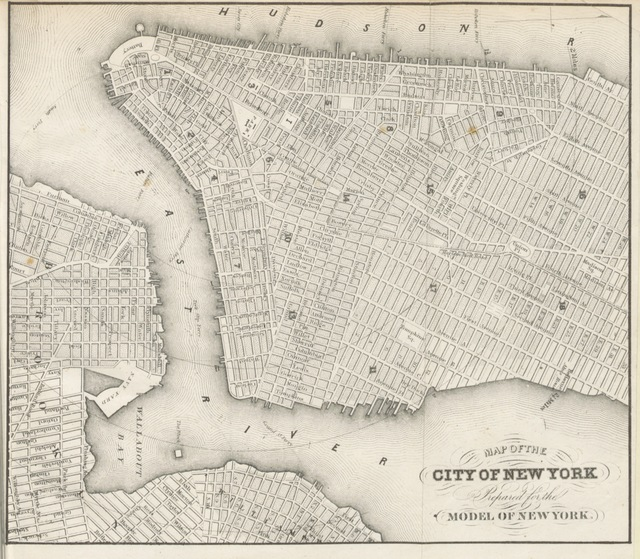 """map from """"New York; past, present, and future ... Second edition"""""""
