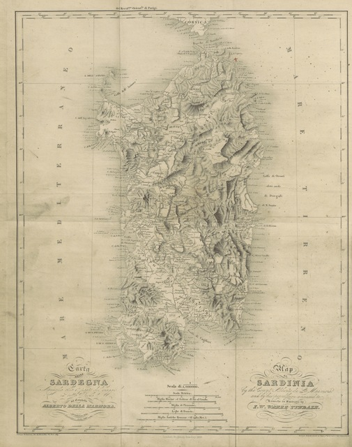 "map from ""The Island of Sardinia, including pictures of the manners and customs of the Sardinians, and notes on the antiquities and modern objects of interest in the island. To which is added some account of the House of Savoy"""