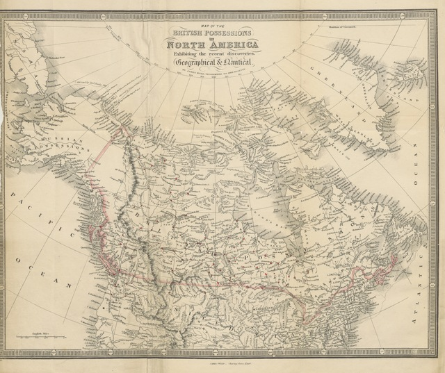 """North America from """"The Hudson's Bay Territories and Vancouver's Island; with an exposition of the chartered rights, conduct and policy of the Hudson's Bay Corporation"""""""