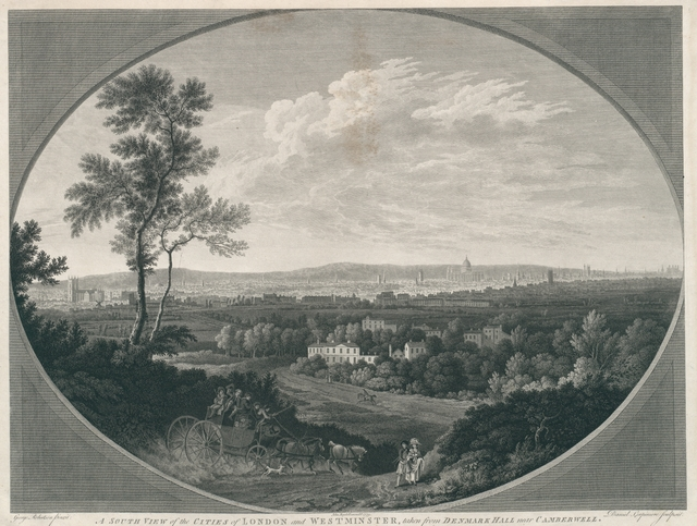 A south View of the cities of London and Westminster, taken from Denmark Hall near Camberwell