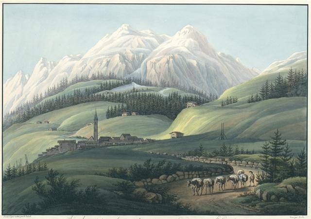 Airolo, situé sur la grande route au pied du Mont St. Gotthardt Canton d'Uri en Suisse