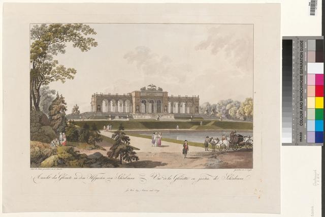Ansicht der Gloriette in dem Hofgarten von Schönbrunn. Vue de la Gloriette ou jardin de Schönbrunn