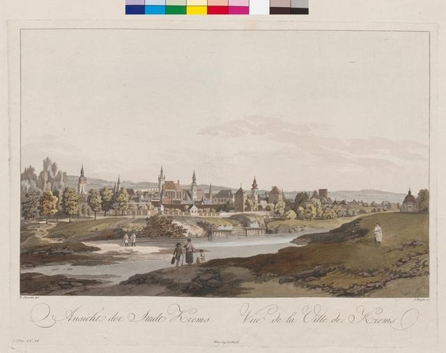 Ansicht der Stadt Krems. Vue de la Ville de Krems