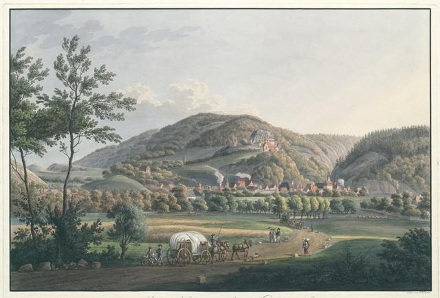 Ansicht der Stadt und des Schlosses Wernigerode am Harz