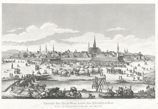 Ansicht der Stadt Wien gegen das Kärnthnertor. Nach J. A. Delsenbachs Originale vom Jahre 1719