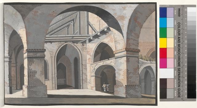 Ansicht des 4ten Theils de abgebrandten Pfarr Kirche zu Posen