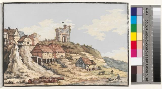 Ansicht des alten Schloss und ein Theil der Stadt zu Wyschegroodt No.1
