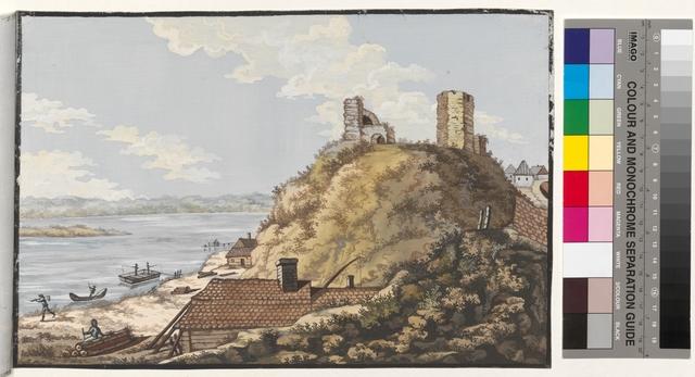 Ansicht des alten Schloss und ein Theil der Weichsel zu Wyschegroodt No.2