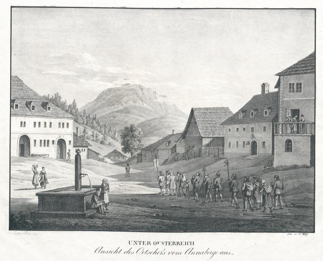 Ansicht des Oetscher's vom Annaberge aus
