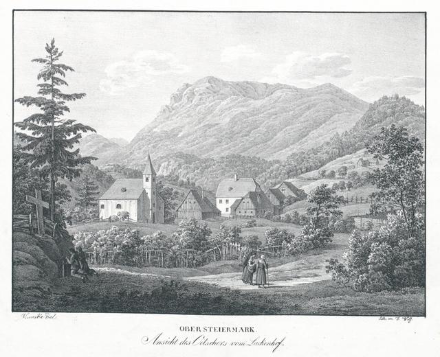 Ansicht des Oetschers vom Lackenhof. Ober Steiermark