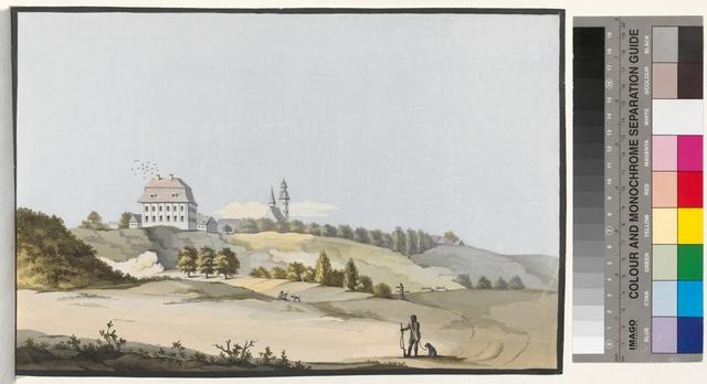 Ansicht des Schlosses und ein Theil der Stadt Razonsek