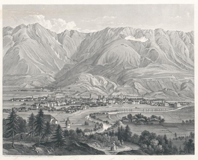 Ansicht von Innsbruck vom Berg Isel aufgenommen