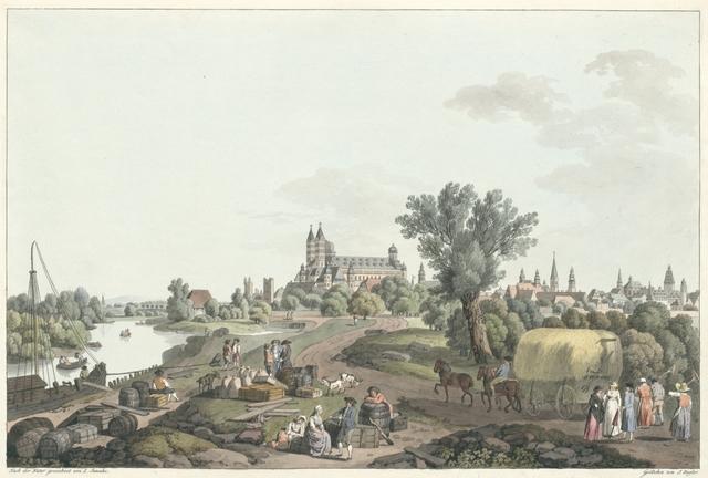 Ansicht von Speyer. Vue de Spire