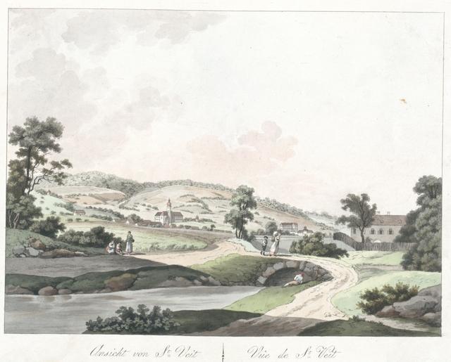 Ansicht von St. Veit. Vue de St. Veit