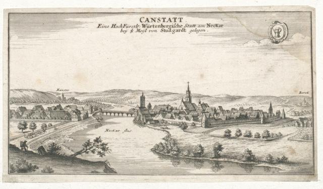 Canstatt. Eine Hoch-Fürstl. Würtenbergische Statt am Neckar bey 3/4 Meyl von Studgardt gelegen
