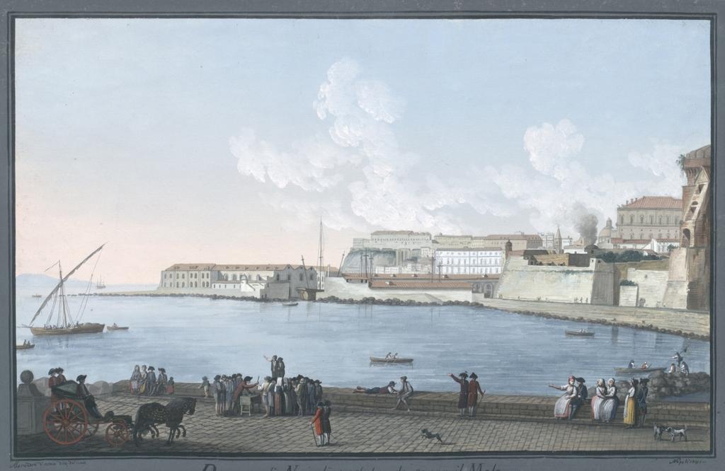 Darsena di Napoli veduta da sopra il Molo