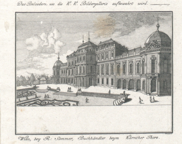 Das Belvedere, wo die K.K. Bildergallerie aufbewahrt wird