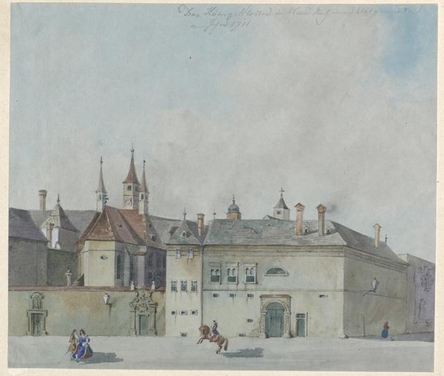 Das Königskloster in Wien. Nach einem Ori. Gemälde vom Jahre 1711