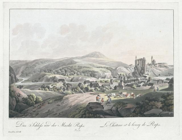 Das Schloss und der Markt Raps. Le Château et le bourg de Raps