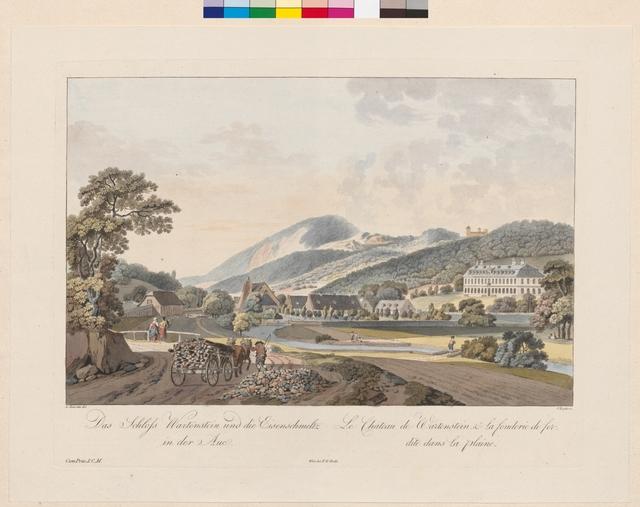 Das Schloss Wartenstein und die Eisenschmeltz in der Aue, Le Château de Wartenstein, & la fonderie de fer dite dans La plaine