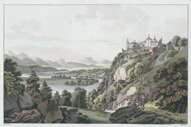 Das Schloss Wernberg an der Drau nächst Villach. Le Château de Wernberg sur la Drave, près de Villach