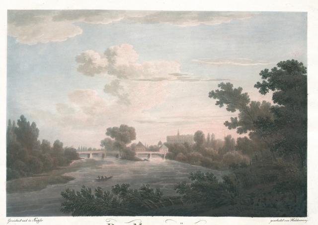 Die Muldbrücke und das Schloss zu Dessau