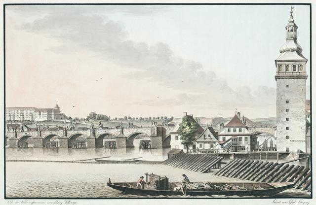 Dritter Theil der östlichen Ansicht vom kleinseitner Ufer Prags an der Moldau