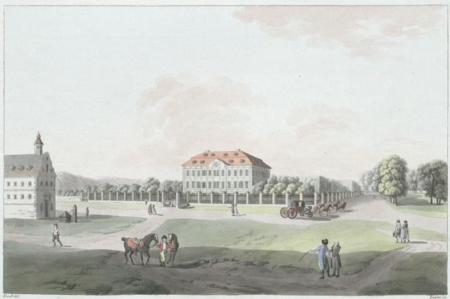 Ebenthal, ein gräfl. Goiss'sches Schloss bey Klagenfurt. Ebenthal, château près de Klagenfurt, appartenant aux comtes de Goiss