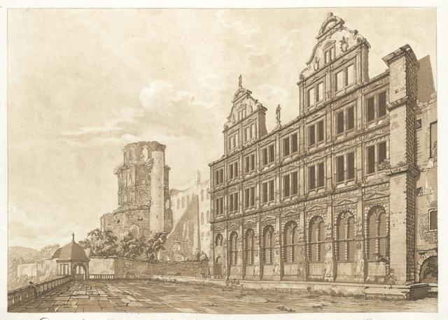 Ein Theil der Nord-Seite des Schlosses zu Heidelberg