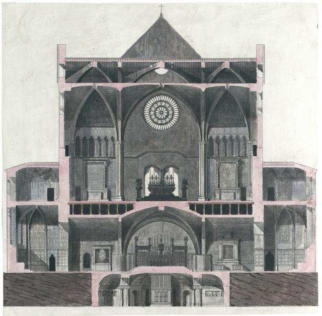 Elevazione interna della magnifica Patriarcale Basilica, e Cappella Papale di S. Francesco d'Assisi.