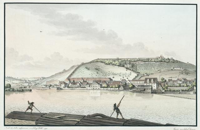 Erster Theil der östlichen Ansicht vom kleinseitner Ufer Prags an der Moldau