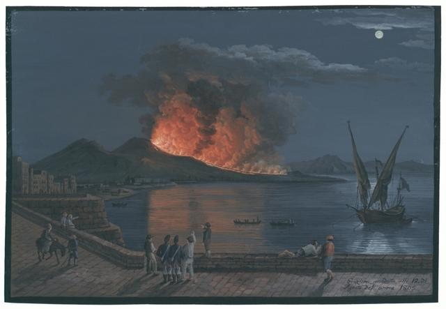 Eruzione accaduta alli 12. di Agosto dell'anno 1805