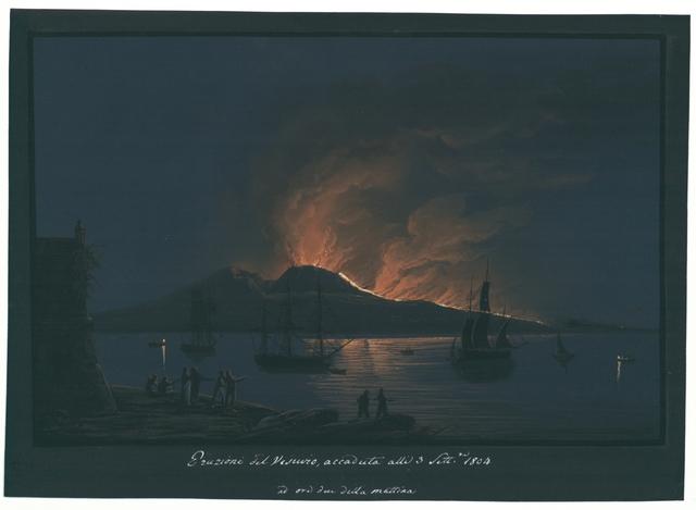 Eruzione del Vesuvio, accaduta alli 3 Sett.re 1804 ad ore due della mattina