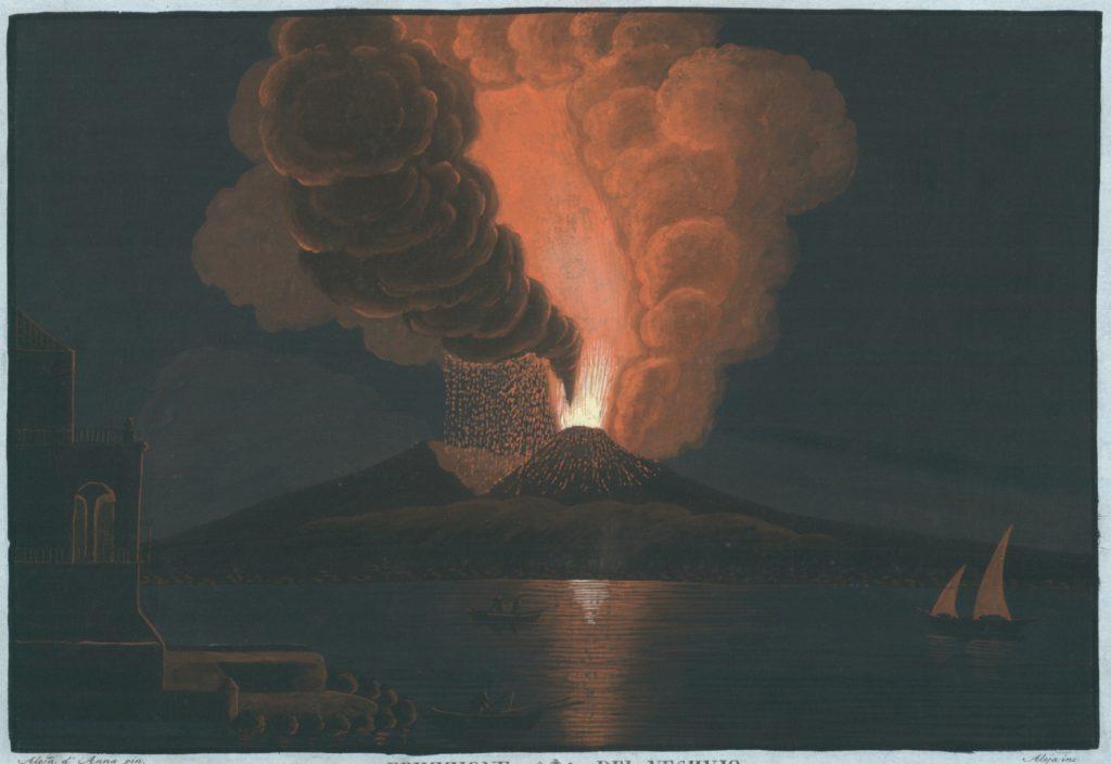 Eruzzione del Vesuvio accaduta alli 8. d'Agosto del Anno 1779