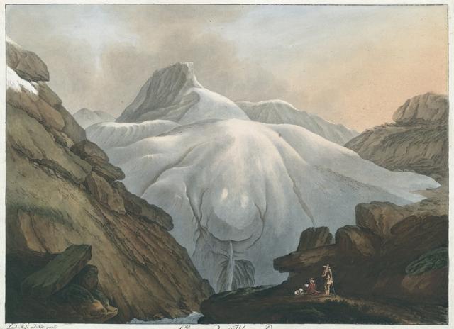 Glacier du Rheinwald qui done la premiere Source au Rhin, situé dans le Pays de risons dans la Ligue Grise
