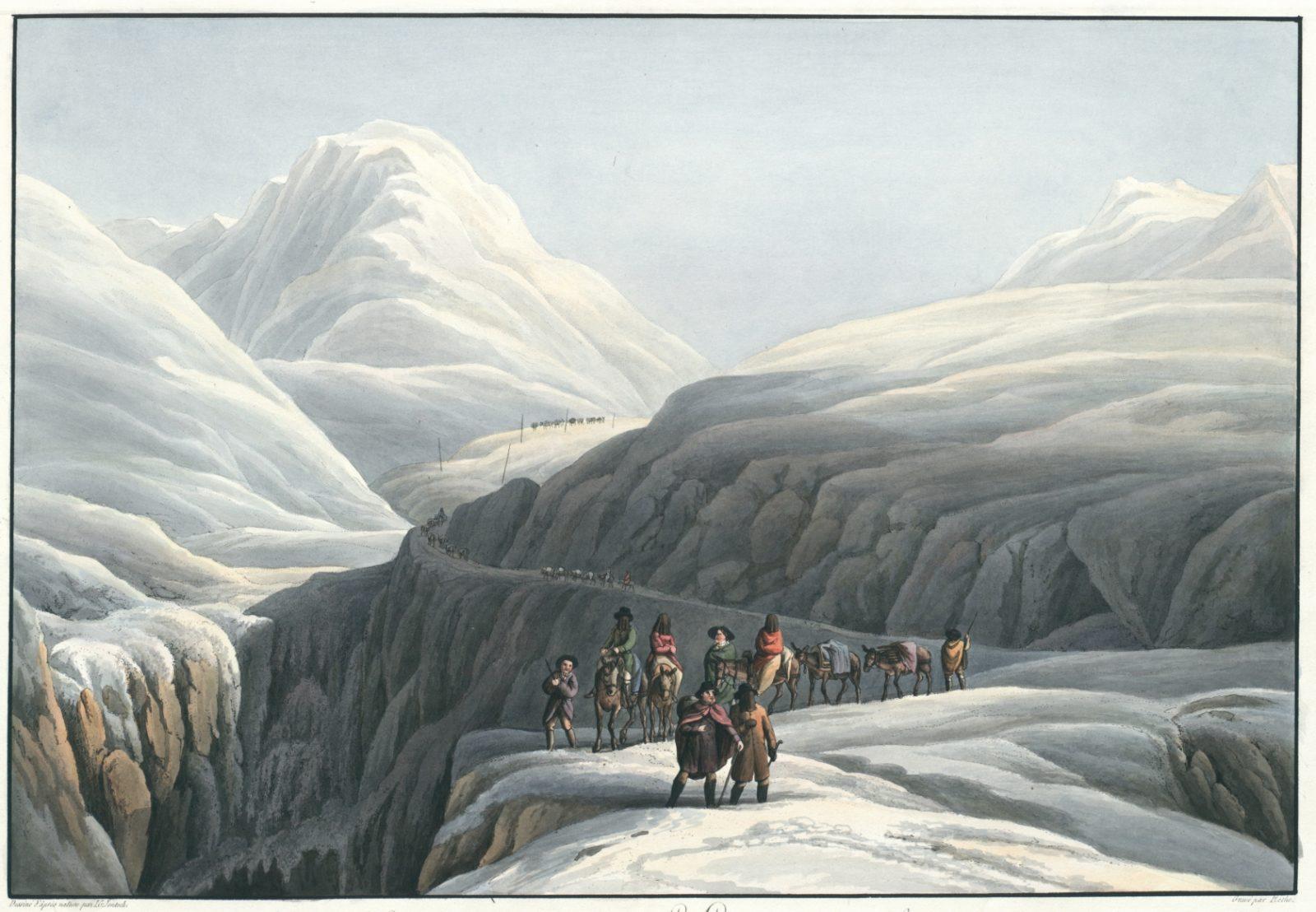 Grande roûte au mont St. Gotthardt, en Suisse non loin de l'Hospice
