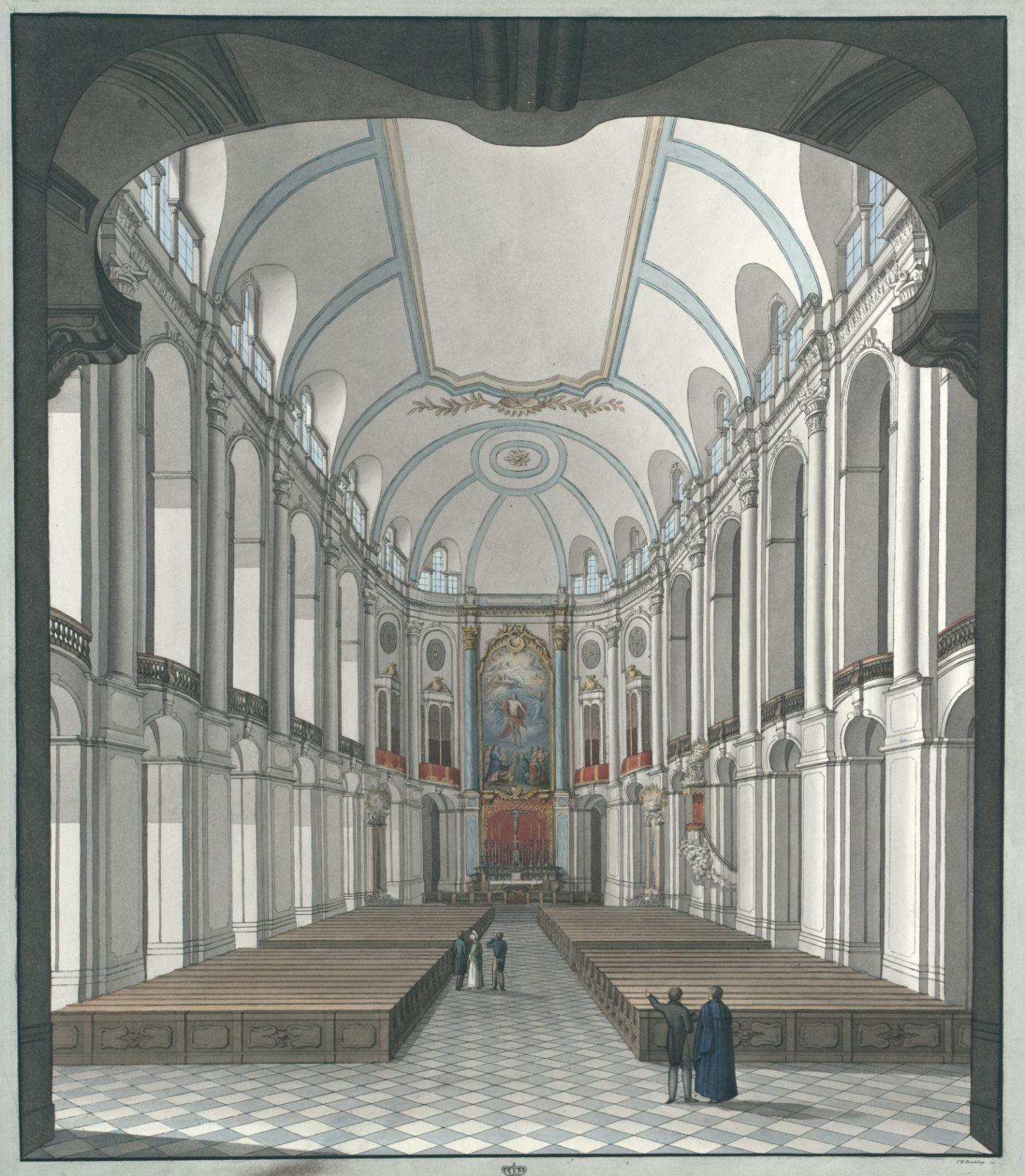 Innere Ansicht der katholischen Hof-Kirche zu Dresden