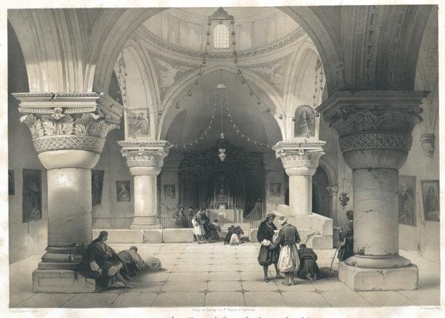 Inneres der Kapelle des heiligen Grabes zu Jerusalem