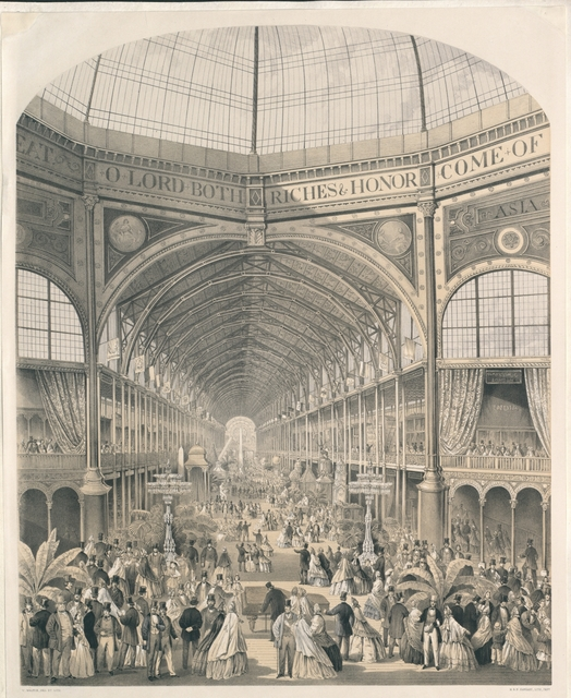 Interior of the International Exhibition, 1862. From the East Dome