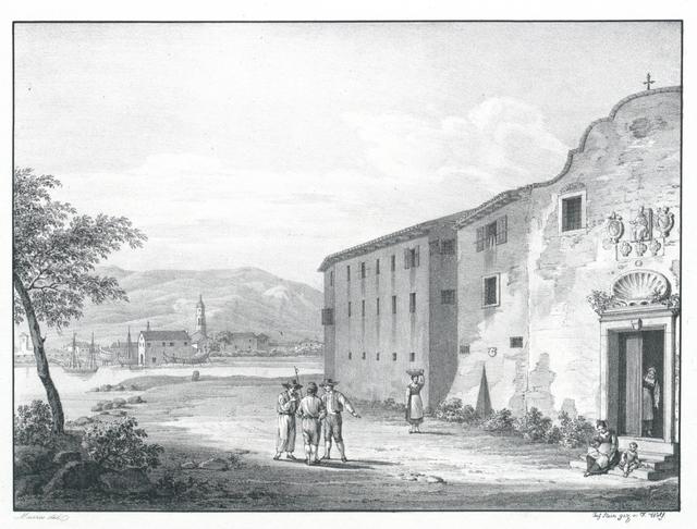 Istrien. Convento S. Benedetto delle Monache und ein Theil d. Stadt Cherso