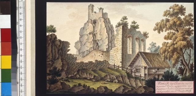 Kameik bei Lowositz im Leitmeritzer Kreise, aufgenommen von Fürstinn  Pauline v. Schwarzenberg nachgemahlt von J. Venuto 1809