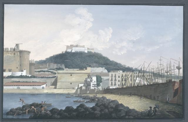 La Collina di S. Martino veduta da sopra li Scogli del Molo