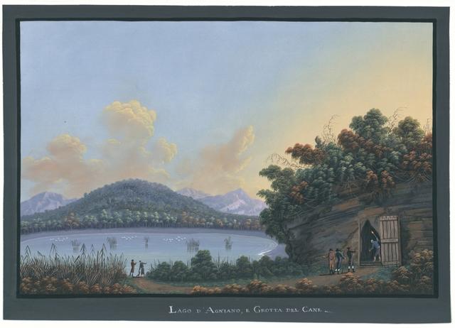 Lago d'Agniano, e Grotta del Cane